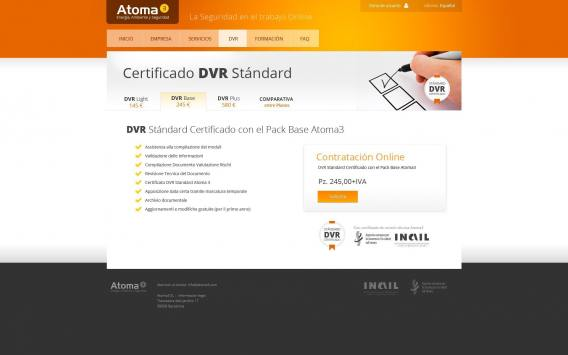 Web project development for online DVR certificate contract