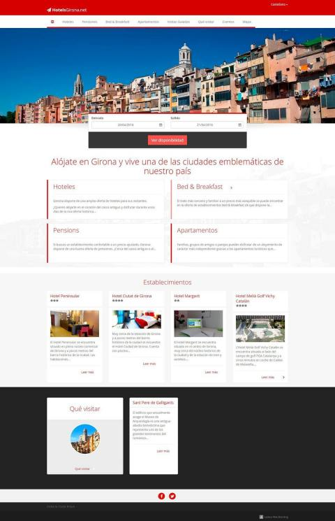 Tourism portal with a hotel directory