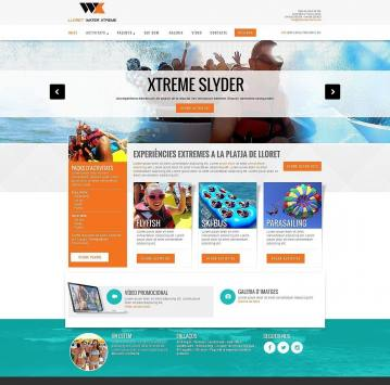Responsive touristic web design for water sports company