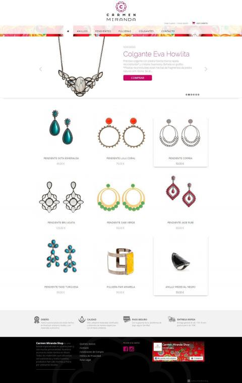 Development of a shop for jewelry sales