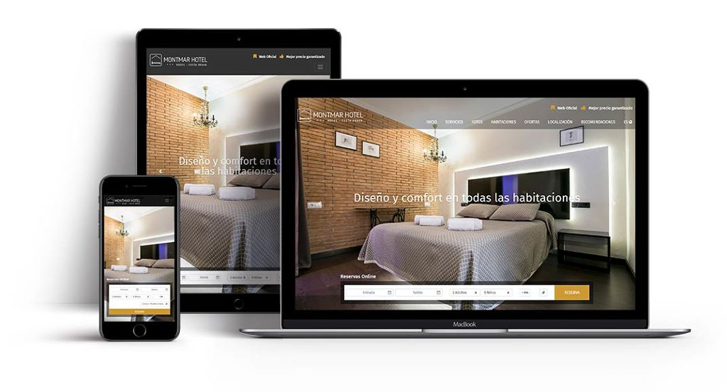 Hotel website with integrated booking engine id315