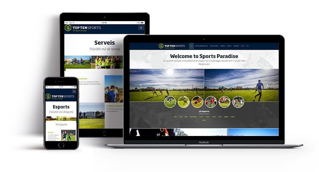 Sports resort web development id207