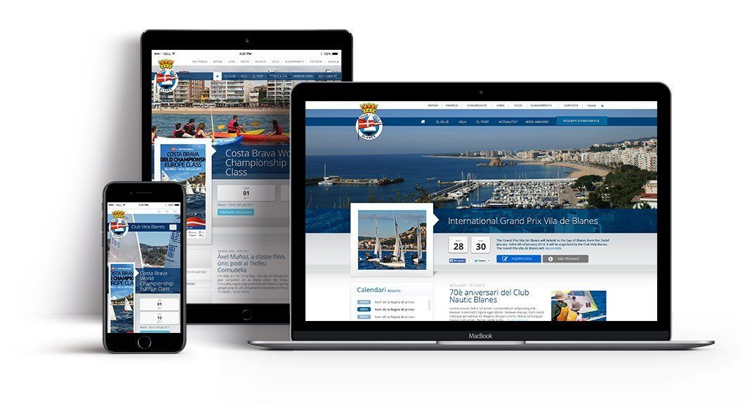 Nautical port web site development id125