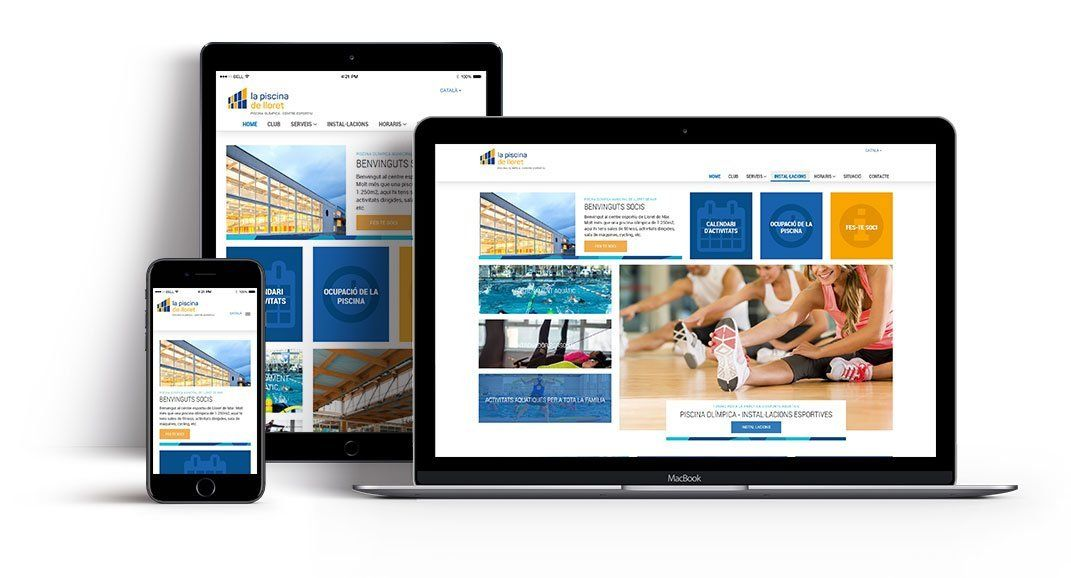 Website design for sport services id265