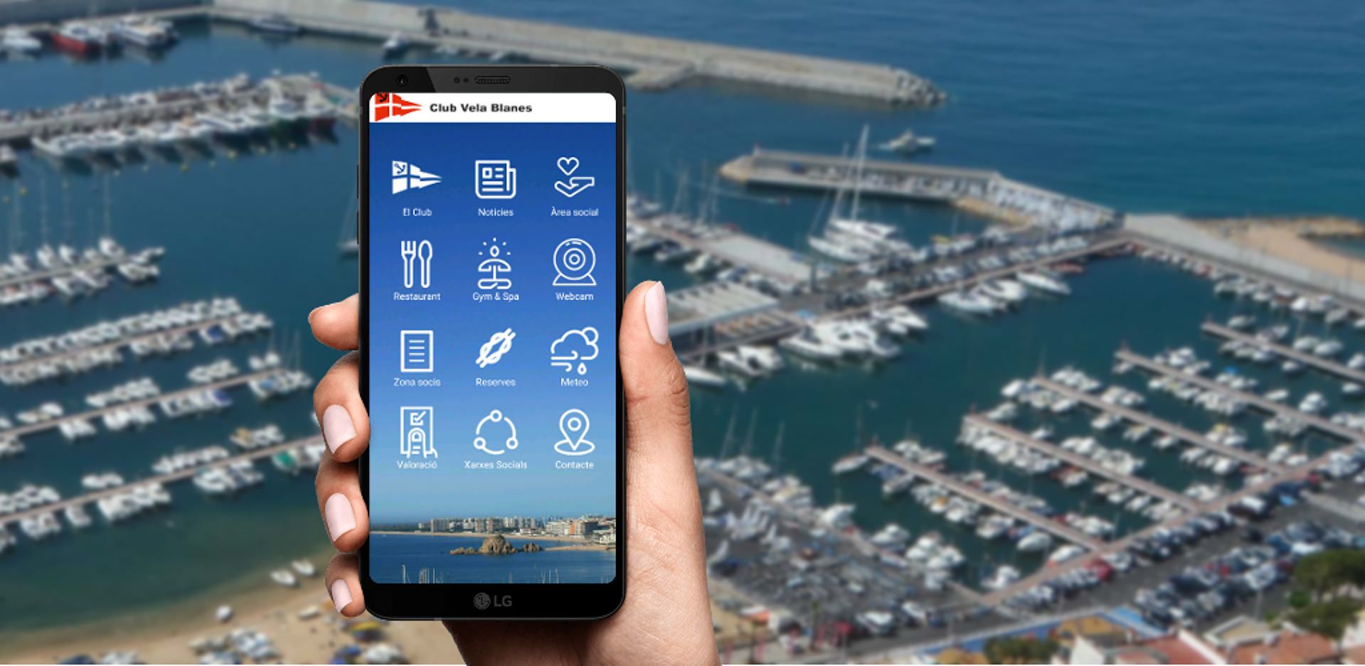 Mobile app for sailing club