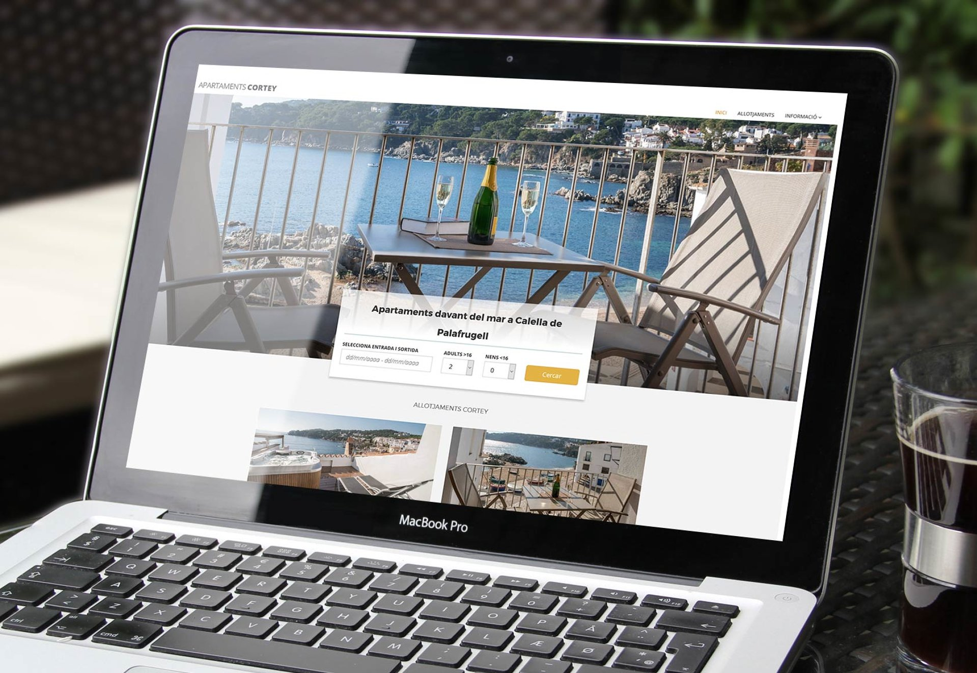 Booking website for touristic apartments