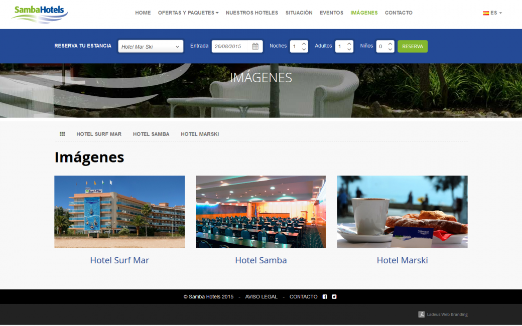 Web design and programming for hotel chain web ladeus for Design hotel chain