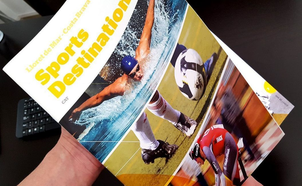 Design for sports destination brochure