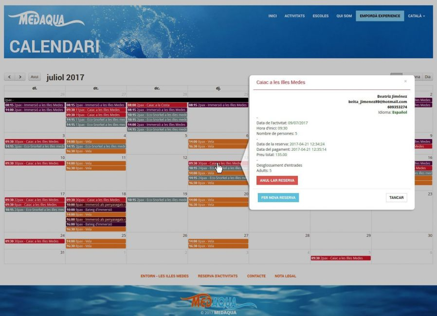 Custom Extranet booking