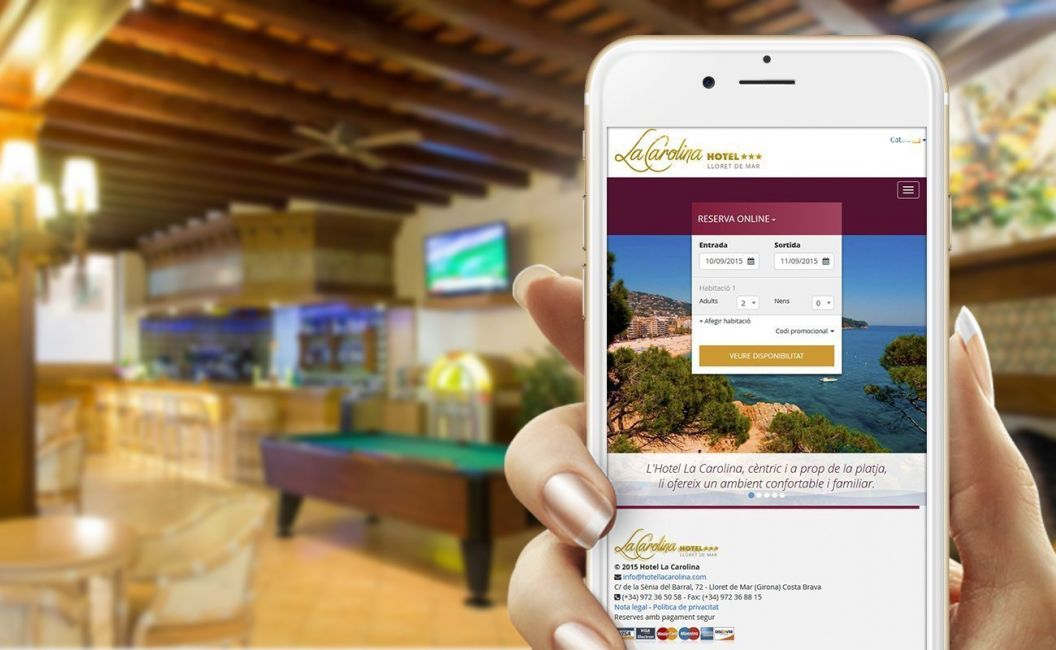 Website for Lloret de Mar hotel