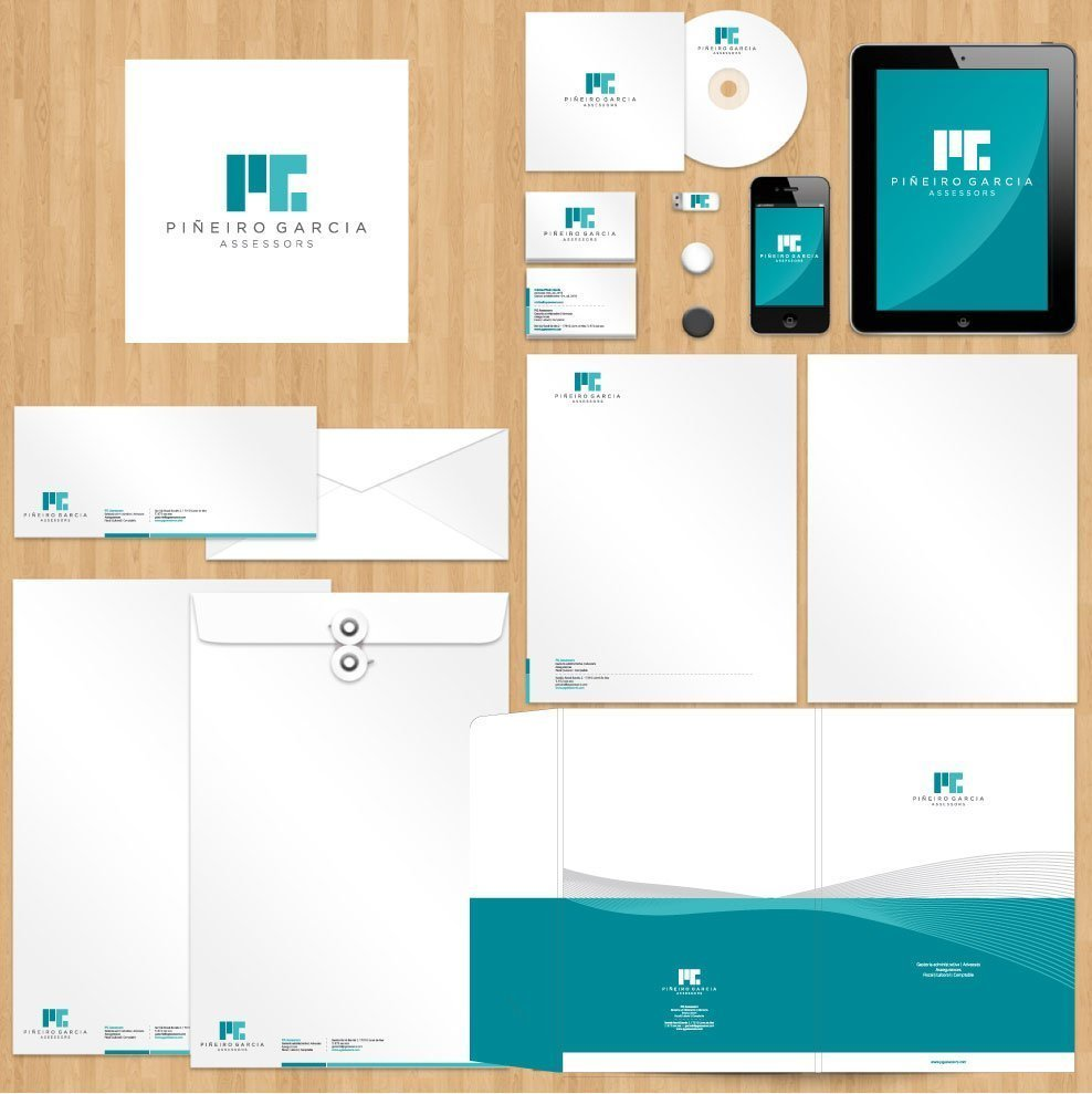 Logotype and stationary design for advicers office