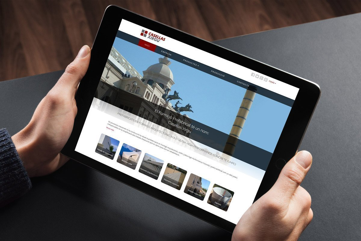 Creation of a responsive website for a company of precast concrete
