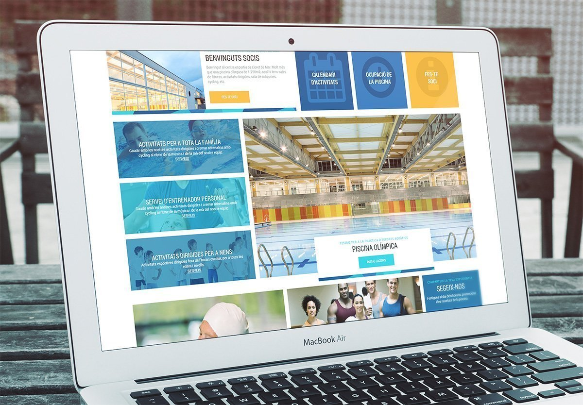 Website design for sport services