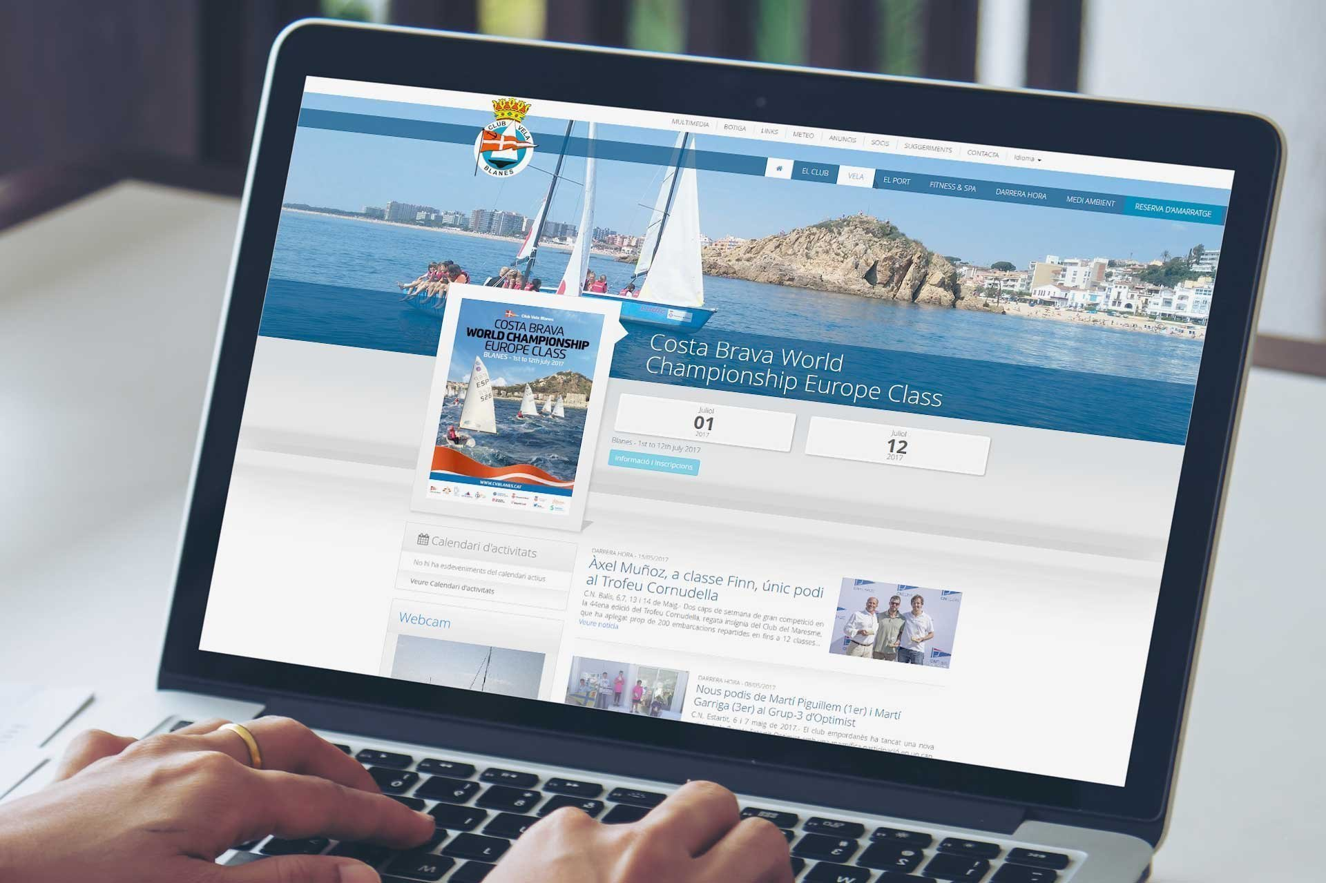 Nautical port web site development