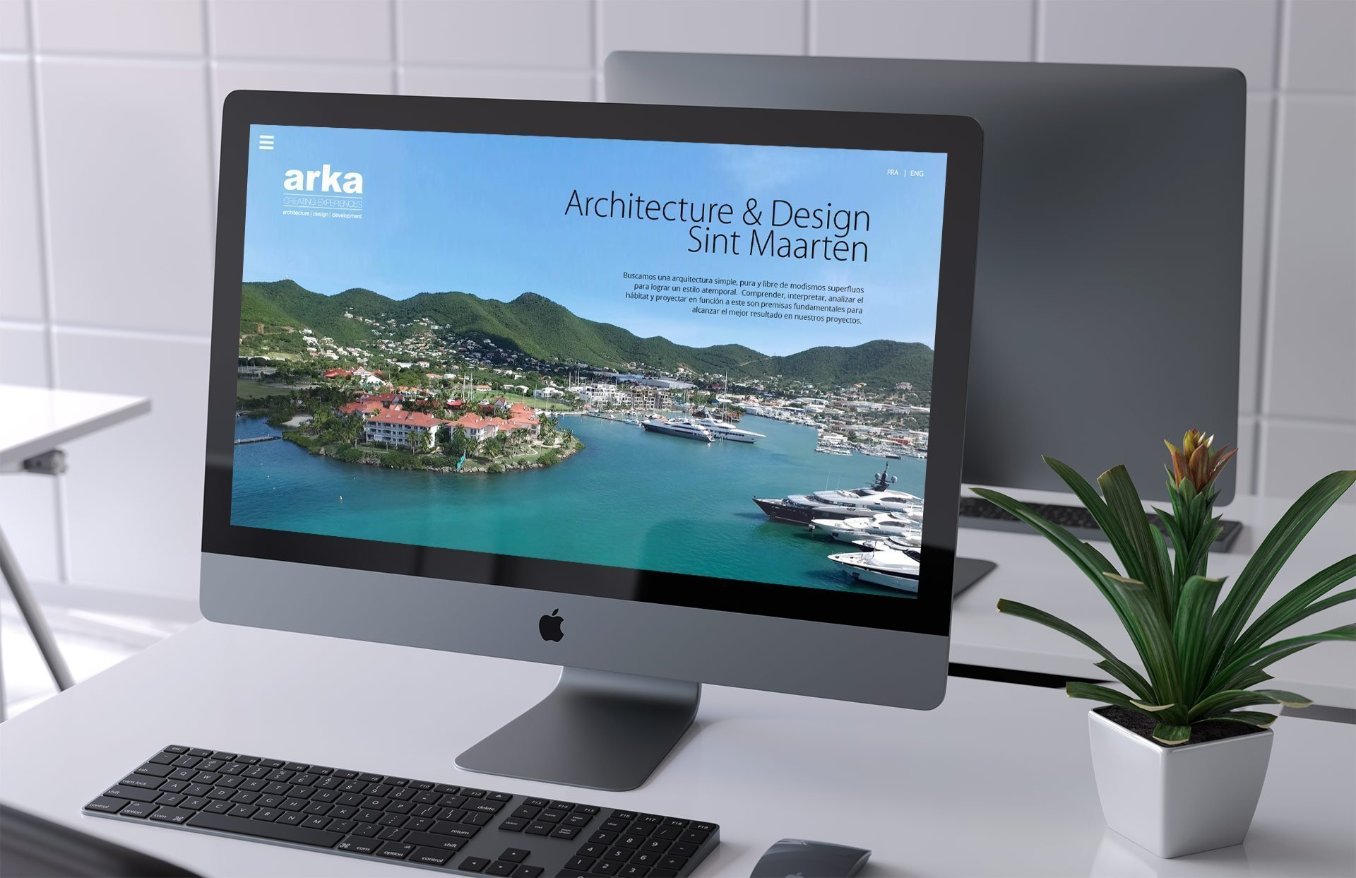 Customized web for an architecture brand