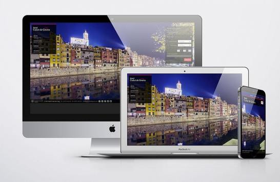 Responsive web design for an Hotel in Girona