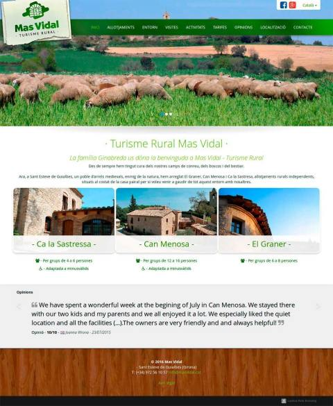Web for rural tourism Company